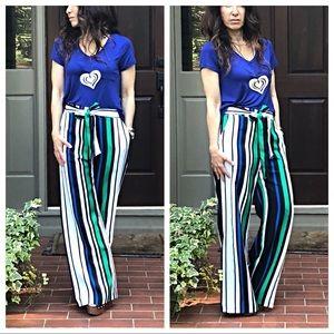 Pants - PARIS Front tie side pockets wide leg pants